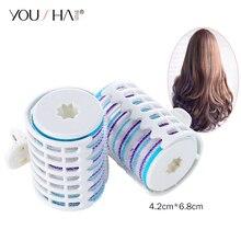 YOUSHA 2 шт. бигуди большого размера, бигуди для волос, волшебные бигуди для волос, самоудерживающиеся бигуди для волос, пластиковые профессиональные салонные Волшебные щипцы для завивки волос