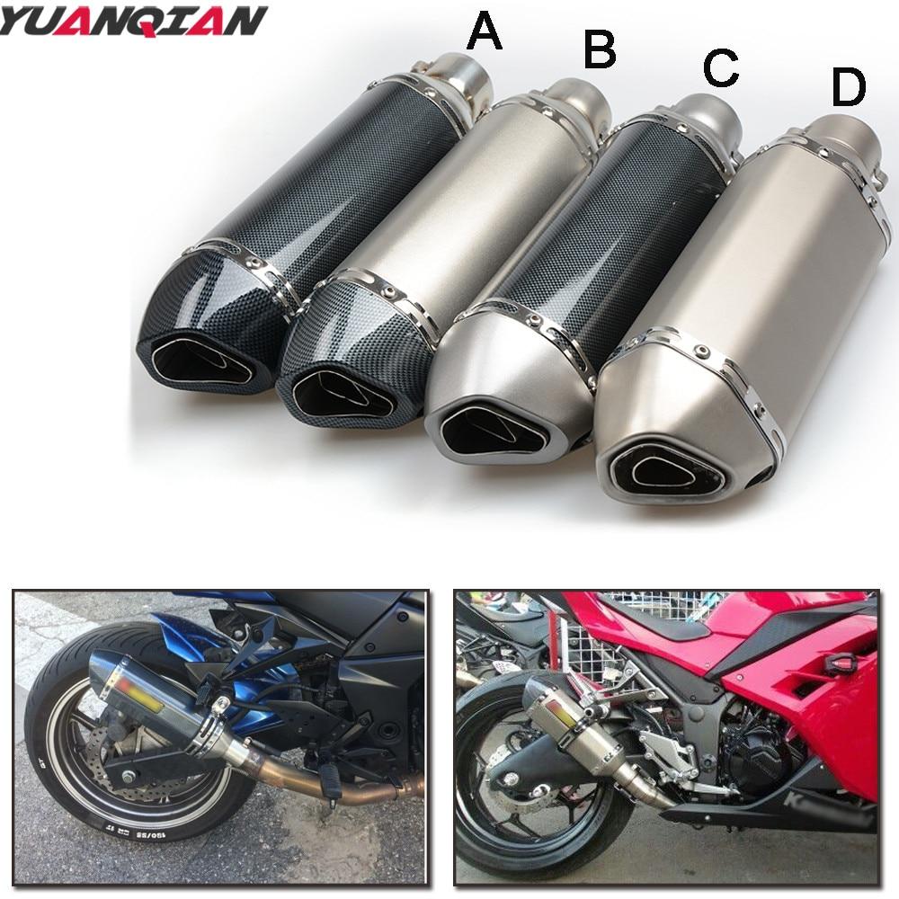 36ММ-51мм Универсальный изменены выхлопной трубы мотоцикла глушитель Motocros для Ямаха МТ 03 25 и YZF r125 типа Р25 Р6 ТМАХ 530 500 MT07 MT09