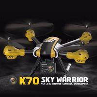 All new K70 WiFi FPV remote Control Large Size big Drone With 2mp Camera HD One Key return altitude hold RC Quadcopter Dron RTF