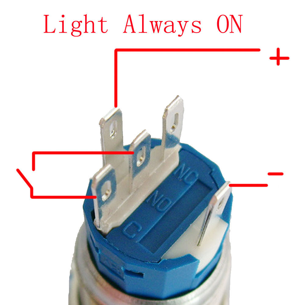 EE support DIY Car Accessories 19mm 12V 5A Colors LED Light Symbol ...