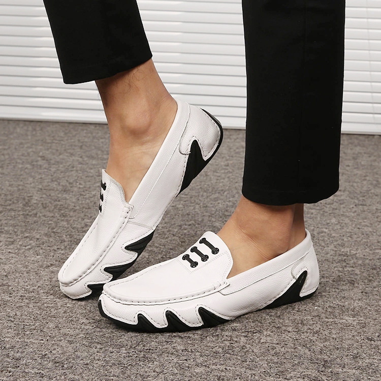 fashion men's genuine leather loafers 2017 new brand mens casual shoes slip-on men driving shoes flats moccasins homme T042104 casual shoes 2016 fashion genuine leather loafers moccasins slip on flats shoes black golden sliver 3 colors