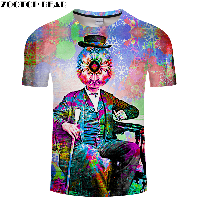 Decorative Pattern&Clown 3D Print t shirts Men Women tshirts Summer Funny Short Sleeve O-neck Tops&Tees Drop Ship ZOOTOP BEAR