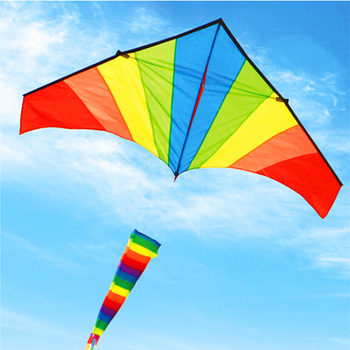 free shipping high quality large rainbow kite windsock with handle line ripstop nylon outdoor toys kids kites factory kite wheel free shipping high quality 2m large rainbow delta kites children kites with handle line kite flying toys bird kite factory