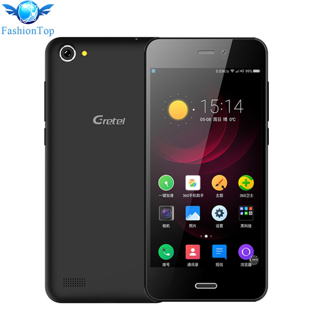 Gretel A7 4.7 Inch Mobile Phone Android 6.0 MT6580 Quad Core1 GB RAM 8GB ROM 3G Smartphone 8.0 MP Camera Dual SIM GPS Cellphone