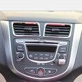 Novo! 2 pçs/set ABS chrome aparar acessórios Do Carro interior saída decoração anel Para Hyundai Solaris Verna