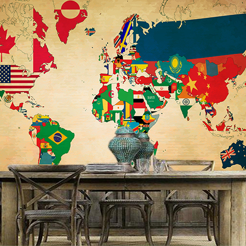 Large retro nostalgia flags world map mural graffiti bar cafe lounge large retro nostalgia flags world map mural graffiti bar cafe lounge ktv backdrop in painting calligraphy from home garden on aliexpress alibaba gumiabroncs Choice Image