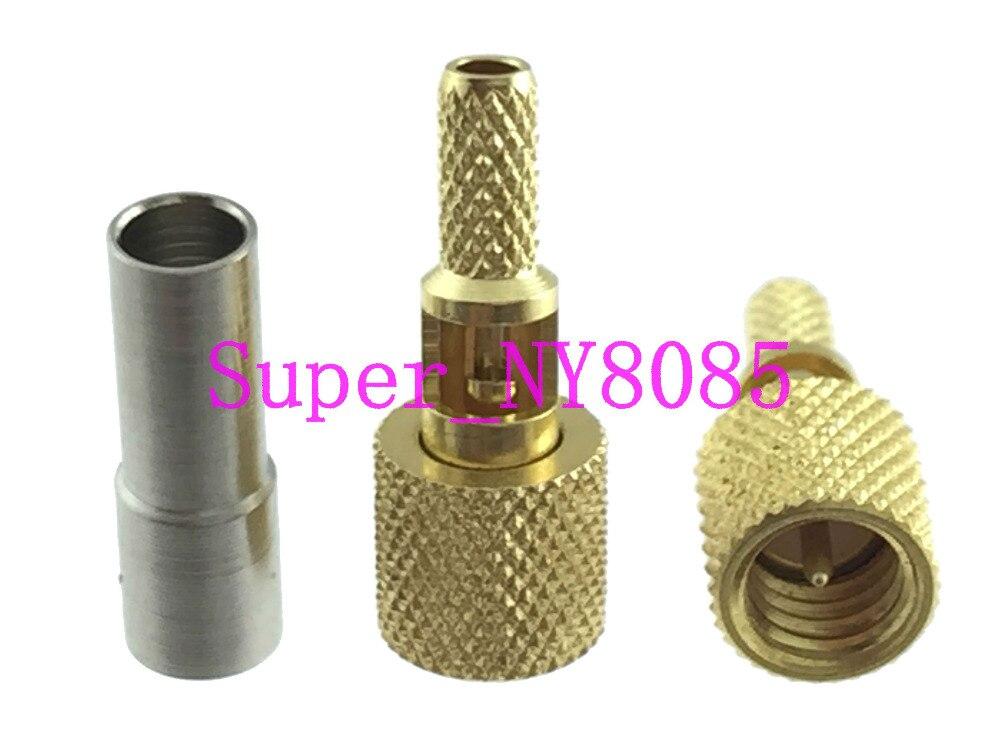 Connecteur micro dot 10-32UNF mâle RG174 RG316 RG188 pour détecteur de défauts ultrasoniques, 10 pièces