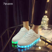 7ipupas Kid size 31-41 Second Dynasties white shoes Led light Glowing sneakers boys girls Schoenen Homme Luminous sneakers