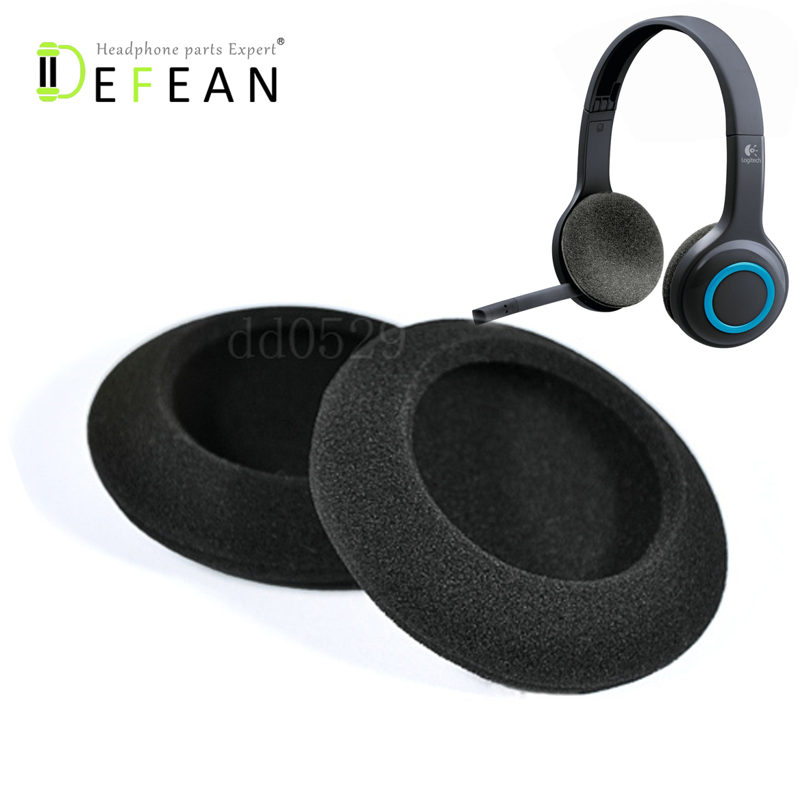 Logitech Over The Head Wireless Headset H600-in Headphone
