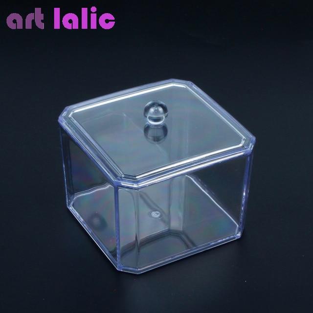 Artlalic Nail Art Makeup Organizer Home Acrylic Clear Square Cotton ...