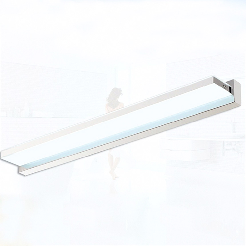 Modern 100cm 15W Right Angle Style LED Acrylic Wall Lights Lamp Bathroom Mirror Light Stainless Wall Sconce Lighting Fixctures modern led wall lamp mirror wall lamp wall light with frosted acrylic shade 5 kinds of size guaranteed 100