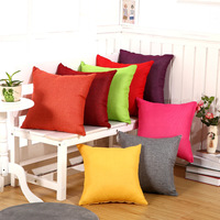 Fashion Solid Color Pillowcase Simple Plain Decorative Cushion Cover Home Decoration Products Sofa Car Chair Pillow