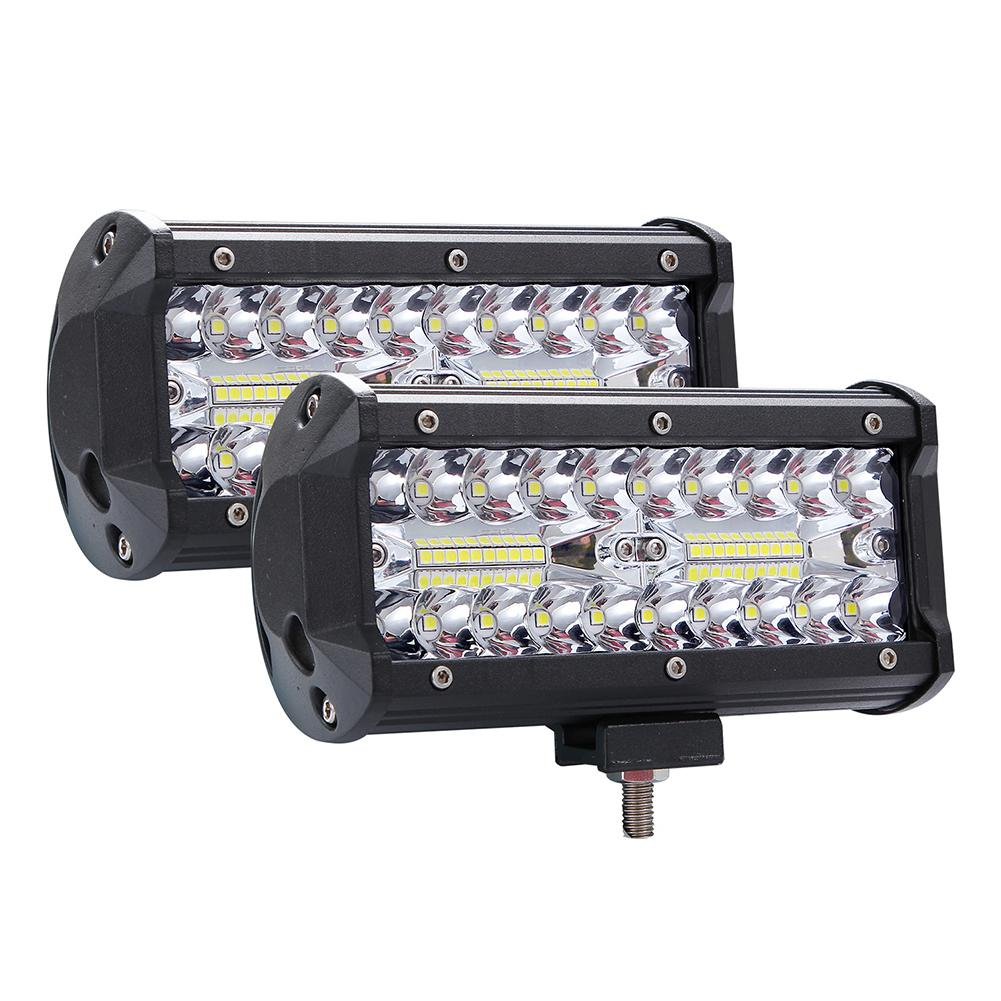 400W LED Bar 3 Rows 7inch 40000LM 6000K Work Light Bar High Bright Driving Lamp For Offroad Boat Car Tractor Truck