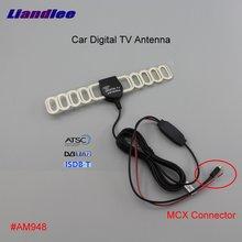 Liandlee Car Digital TV Antenna Amplifier DVB-T ISDB-T ATSC Automobile Active Aerial MCX Connector Male Plug Booster ANT #AM957