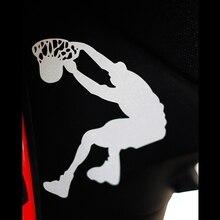 car decals basketball player 10cm*10.9cm motorcycle ebike reflective waterproof vinyl stickers applique