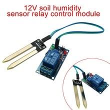 New DC 12V Smart Electronics Soil Moisture Hygrometer Detection Humidity Relay Sensor Module for arduino Robot Smart Car