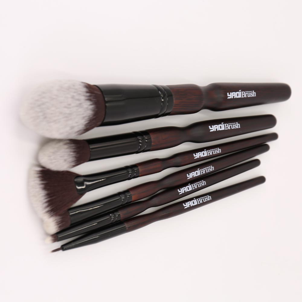 6pcs Nylon Hair Professional Cosmetic Brush Set with Pouch все цены
