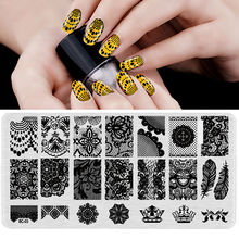 BC-03  Image Plate -1PCS/Lot New Plastic Manicure Template Nail Art Stamping Polish Print Stamper (free ship)