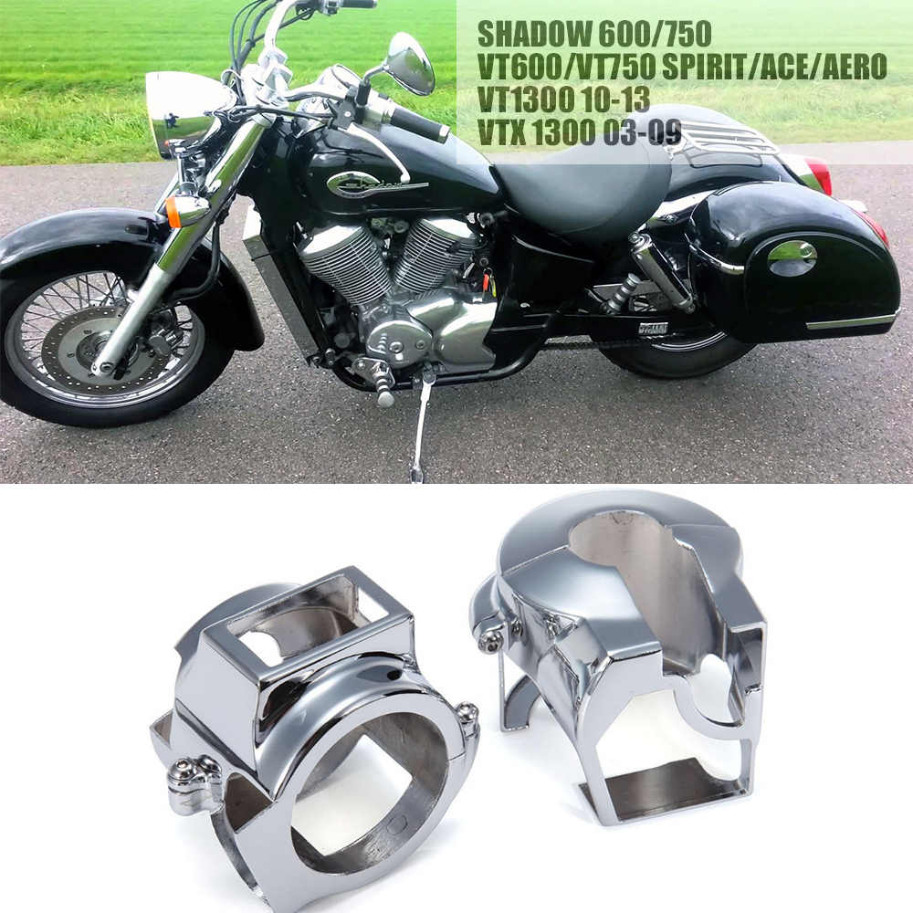 Pair Chrome CNC Aluminum Handlebar Switch Housing Cover for Honda Shadow VT  600 750 VLX Spirit ACE Aero VTX 1300 VT 1300