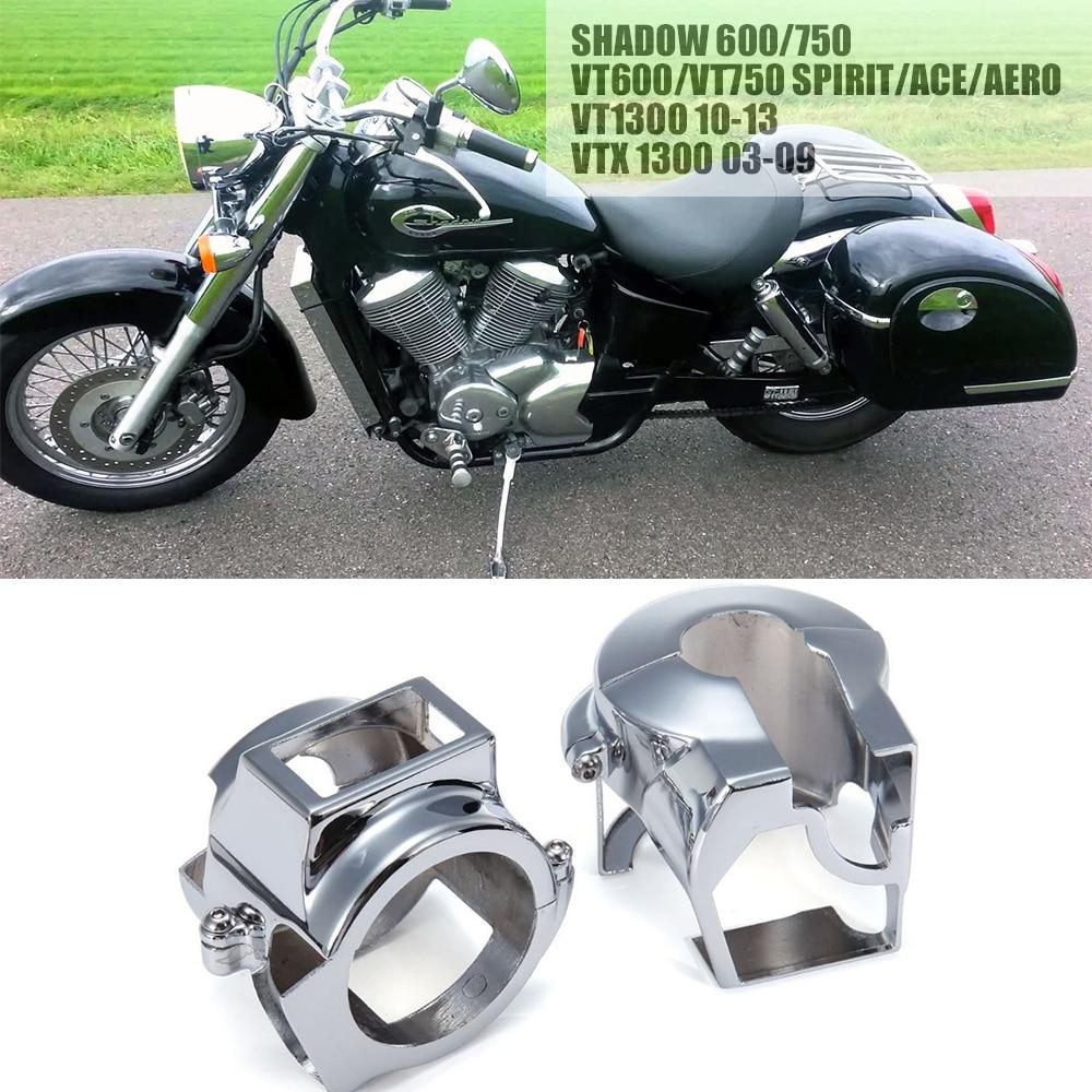 Pair Chrome Cnc Aluminum Handlebar Switch Housing Cover For Honda 1983 Shadow Motorcycle Parts Vt 600 750 Vlx Spirit