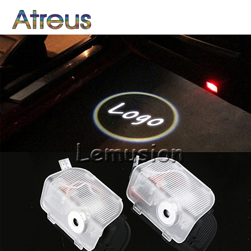 Atreus 2X LED Courtesy Lamp Car Door Welcome Light 12V Projector Shadow Styling For Honda Acura RDX Accessories