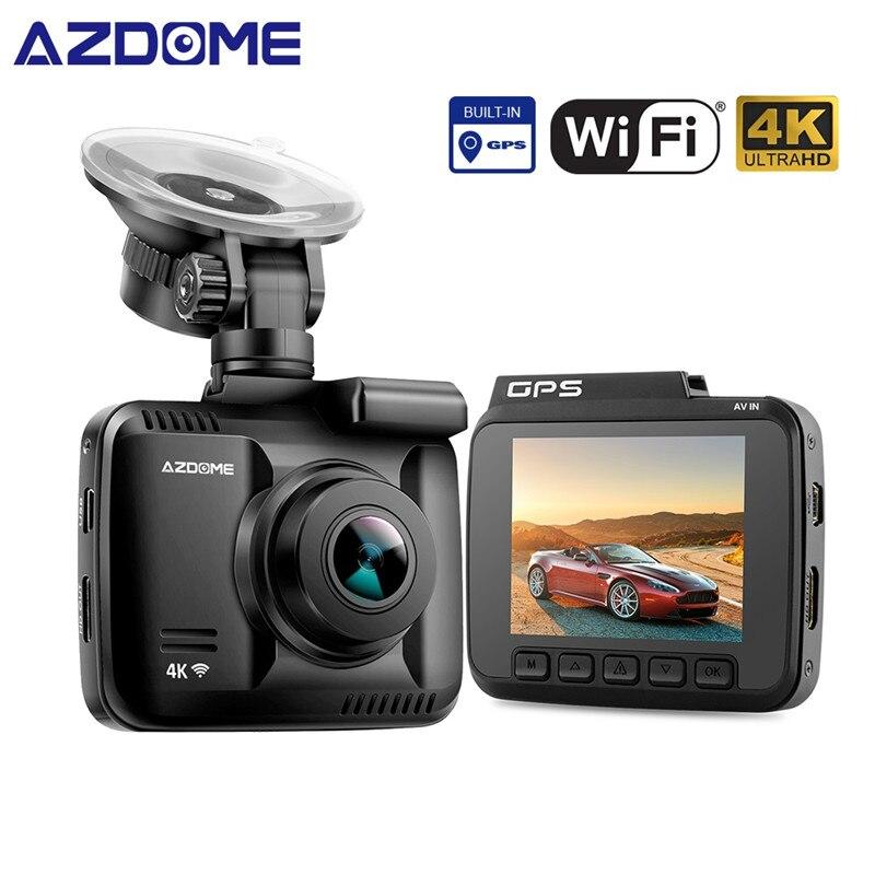 AZDOME GS63H WDR 4K Built in GPS WiFi dash cam Night Vision car camera recorder Dual Lens Vehicle Rear View car dvr
