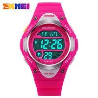 SKMEI Children Outdoor Sports Watches Boy Alarm Digital Watch Kids Stopwatch Waterproof Girls Wristwatches Clock 1077
