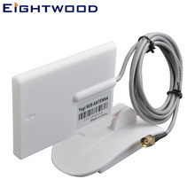 Eightwood Wifi Antenna Directional 2.4GHz 9dBi 150cm Extension Cable RP-SMA Plug Connector Wireless Security Camera Surveillance
