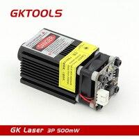 GKTOOLS 500 mW 405nm 12 V Modulo Laser Blu 2.54-3 P TTL/Modulazione PWM Per DIY CNC Incisore Laser Messa A Fuoco Regolabile FB03-500