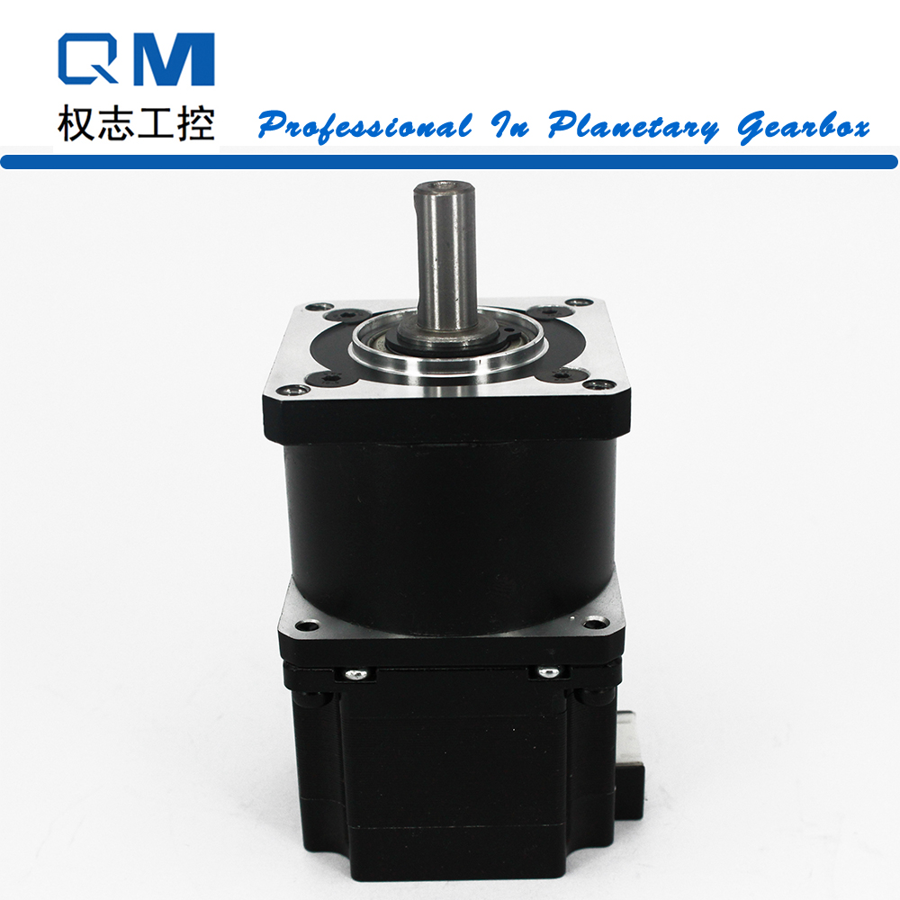 Planetary reduction gearbox ratio 10:1 stepper motor nema 23 L=42mm cnc robot pump 57mm planetary gearbox geared stepper motor ratio 10 1 nema23 l 56mm 3a