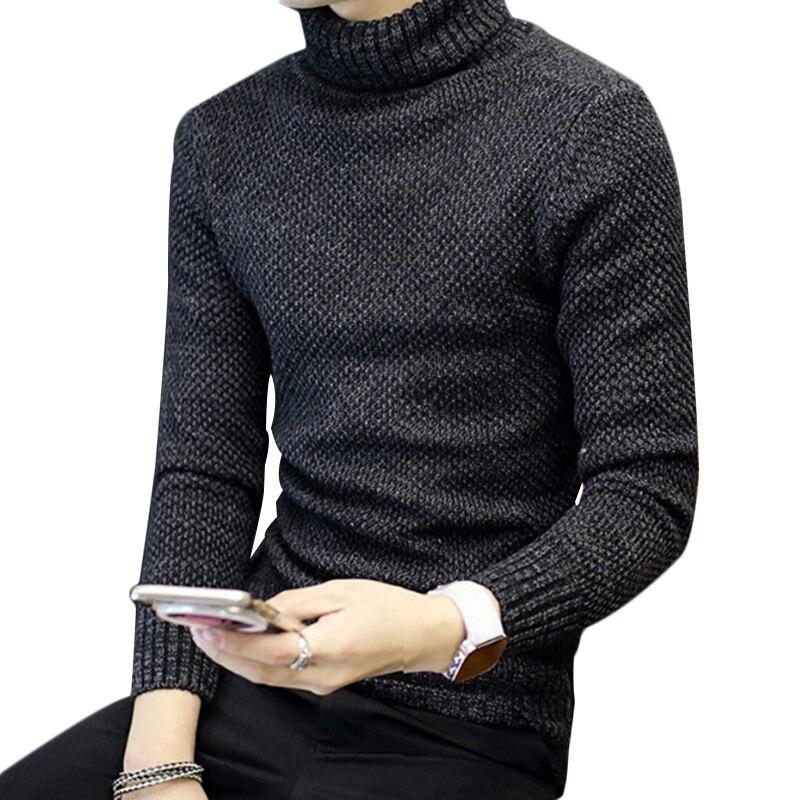 ffad784e9259 2017 зимний теплый свитер Для мужчин пуловер Для мужчин тонкий Однотонный  свитер рубашка Fit Вязание Для мужчин Свитеры для женщин и мужской пуловер  ...