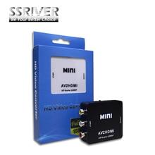 Ssriver rca zu hdmi av, um hdmi 1080 p av2hdmi mini av, um hdmi konverter signalwandler für tv, VHS-VIDEORECORDER, DVD Rekorde(China (Mainland))