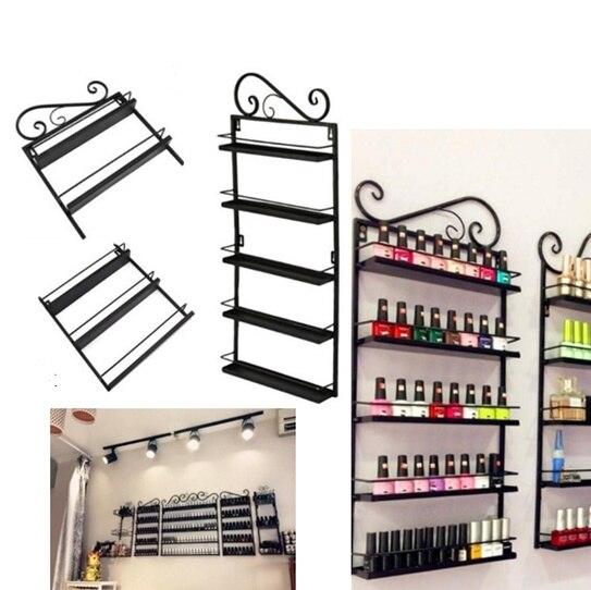 Wall Mouted Nail Polish Acrylic Stand Display Rack Holder Varnish RetalL