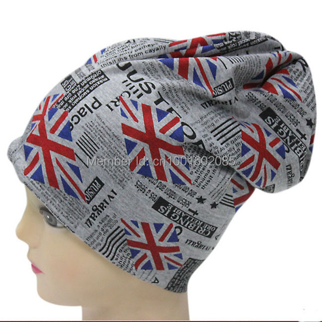 Free Shipping Unisex Thermal Synthetic Silk USA Style Printed National Flag  Headwear Beanie Skullies d3d0a6d7030