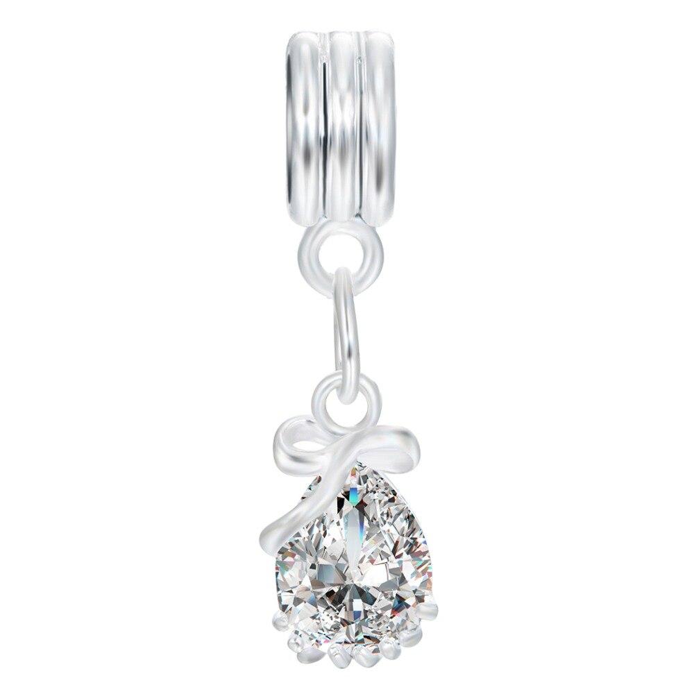 3pcs éléphant Cristal Européen Pendentif en Or Cz Charm Beads Fit Collier Bracelet