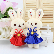 Cartoon Rabbit Bouquets Plush Toys Baby Doll  Kids Christmas Gifts Wedding Present