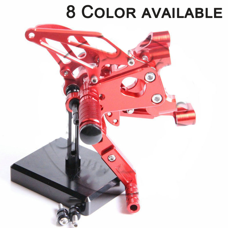 Fit For Ducati 899 Panigale 2014 2015 Motorcycle CNC Aluminum Footrests Rear Foot Pegs Foot Pedal Pegs Bracket Sets motorcycle tail tidy fender eliminator registration license plate holder bracket led light for ducati panigale 899 free shipping