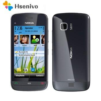 Перейти на Алиэкспресс и купить Оригинальный телефон Nokia C5-03, Wi-Fi, GPS, 5 Мп, 3G, Bluetooth, разблокированный, один год гарантии, бесплатная доставка