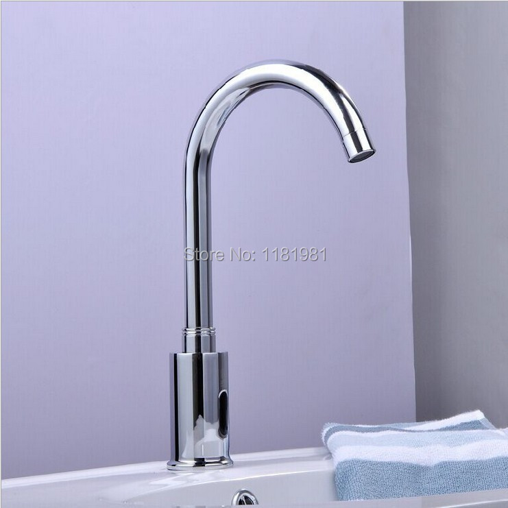 Automatic inflared Sensor Faucet for bathroom Sink water saving Inductive electric Water Tap mixer Free touchles coldwater HZY-2 xueqin automatic inflared sensor faucet cold hot water bathroom sink copper water saving inductive tap deck mount with hose