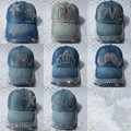 2015 Новое Прибытие 20 цвета Досуг Корейский Бейсболки Дамы Джинсовая Шляпы Лето Корона Башня Борода Fox Sport Шляпы Бесплатно доставка