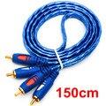 2RCA Cable de Audio 1.5/3/5 M Resistente A La Oxidación de Diseño $ number RCA Macho A $ number RCA Macho Cable Para DVD Caja de TV Reproductor Digital
