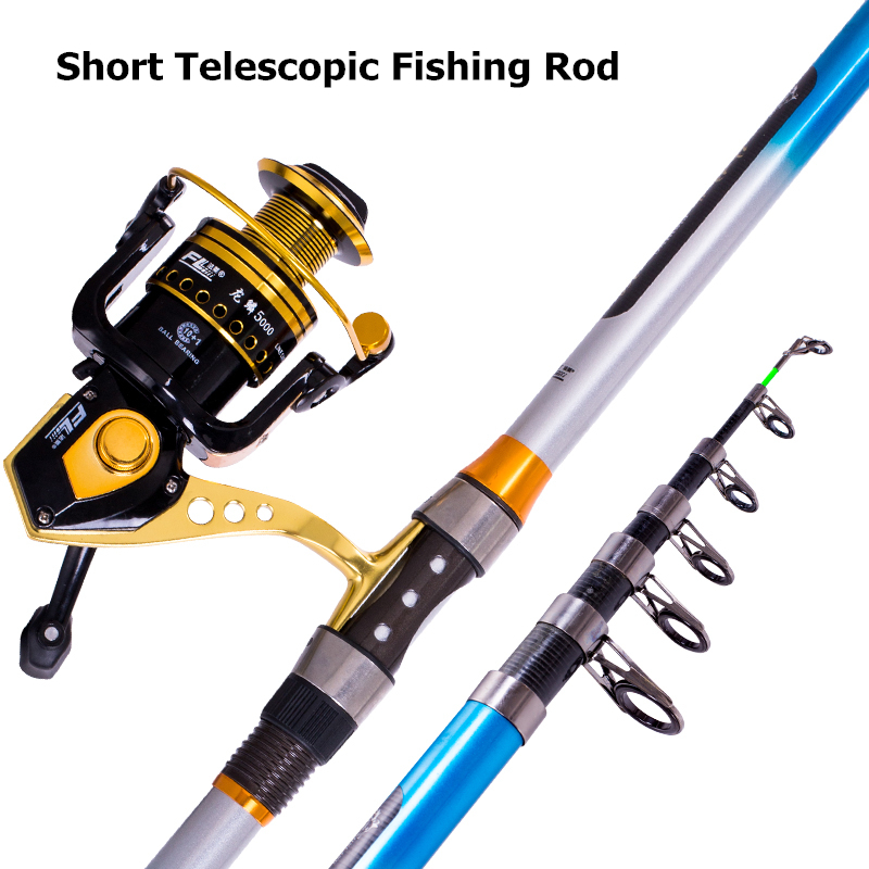 2 1 3 6m Carbon fibre Telescopic Distance Throwing rock fishing rod Reel Combo Kit portable