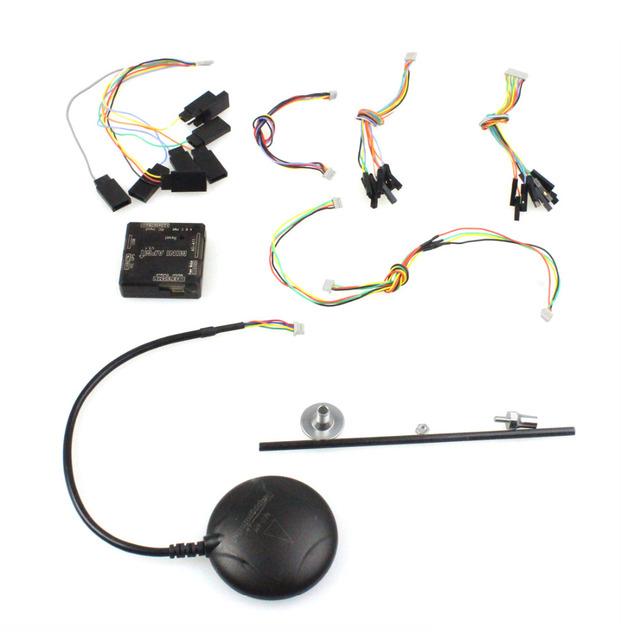 F14571 Mini Controle de Vôo APM V3.1 Versão Mini 3.1 Multicopter placa de Caixa de Proteção com Bússola GPS para FPV 2.6 2.8 atualizado