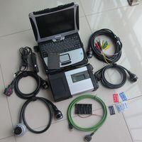 MB Star C5 SD conectar con Toughbook CF-19 portátil + MB estrella C5 trabajo con el coche y el camión la mejor PCB + C5 software 2018.03 SSD rápido
