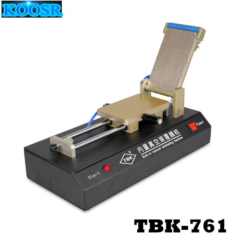TBK 761 Built in Vacuum pump OCA Film Laminating Machine for iPhone Samsung LCD Touch Screen