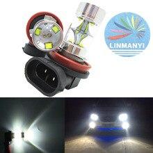 цена на 2pcs High Power Fog Lights With lens H11 H8 45W XBD Chip 9SMD 9LED H8 Headlight bulb Fog Lamps Driving lights 6000K White 12V DC