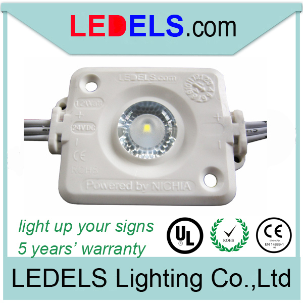 five years warranty,1.2w 130lm high power NICHIA OSRAM <font><b>LED</b></font> INSIDE <font><b>24v</b></font> <font><b>led</b></font> <font><b>module</b></font> backlighting for sign box image