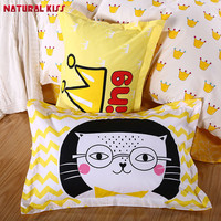 Cute Cat Kings Anime Decorative Pillow Case Cute Design Cotton Standard Pillowcase Home Kids Gift 48cmX74cm