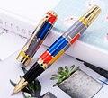 Роликовая шариковая ручка Hero 767 с золотой отделкой, модная цветная ручка с чернилами и плавными стержнями, отлично подходит для подарка, для ...