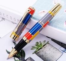 Hero 767 rulo tükenmez kalem altın Trim ile moda renkli mürekkep kalem pürüzsüz dolum hediye için harika mezuniyet iş ofis